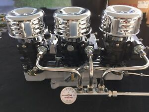 Vintage Speed Rochester 3 X 2 Carb To 4 V Adapter Set Blk Tri Power Hot Rod