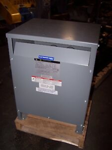 New Square D 15 Kva 3 Phase Transformer 480 Hv 208y 120 Lv 15t3hiscu