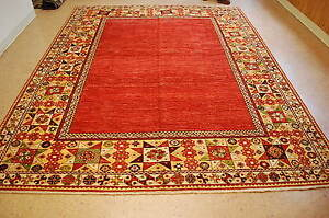 Antique One Of A Kind Caucasian Kazak Design Afghan Chobi Rug 8x10 Vegy Dye