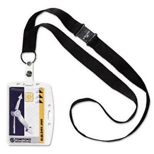 Durable 826819 Shell style Id Card Holder Vertical horizontal With Necklace C