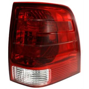 Halogen Tail Light For 2003 2006 Ford Expedition Right Clear Red Lens