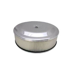 Bandit Air Cleaner Assembly 8037k Race Car Chrome Steel Round 14 X 4