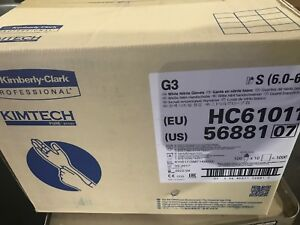 Kimberly Clark 56881 Kimtech Pure G3 White Nitrile Cleanroom Gloves Small
