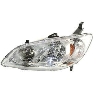 Headlight Headlamp Lh Left Hand Driver Side New For 04 05 Honda Civic