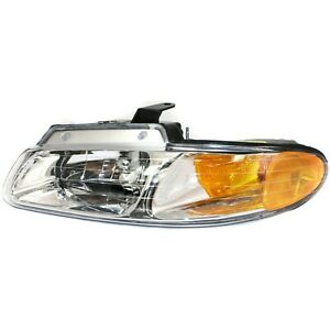 Headlight For 2000 Dodge Grand Caravan Chrysler Town Country Driver W Bulb