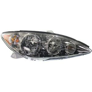 Headlight For 2005 2006 Toyota Camry Right Chrome Housing With Bulb