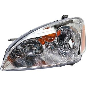 Headlight For 2002 2003 2004 Nissan Altima Left Clear Lens With Bulb