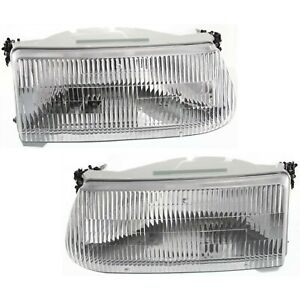 Headlight Set For 95 2001 Ford Explorer Sport Utility Left Right Side W Bulb