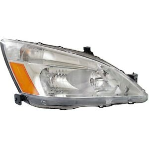 Headlight Headlamp Passenger Side Right Rh New For 03 07 Honda Accord