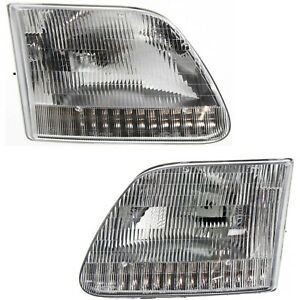 Headlight Set For 97 2003 Ford F 150 97 99 F 250 97 2002 Expedition Left