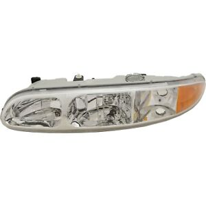 Headlight For 99 2000 2001 2004 Oldsmobile Alero Left With Bulb