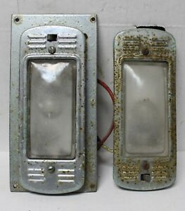 Double Guide Dome Lights Front Back Cab Off 1964 Seagrave Firetruck Hot Rat Rod