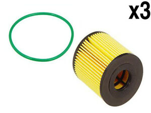 Volvo 99 11 Engine Oil Filter Kit Seal x3 Bosch S40 60 C s v 70