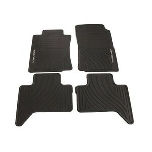 For Tacoma Double Cab All Weather Rubber Floor Mats Genuine Oem Pt908 35002 02