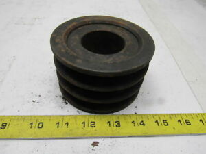 Martin 3b 38 Sh 3 Groove V belt Pulley Sheave Bushed Bore