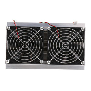 Cooling 2 fan Refrigeration System Heat Sink Kit Thermoelectric Peltier