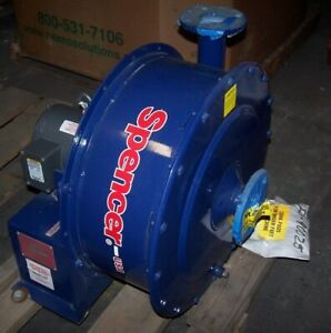 New Spencer 2 1 2 Centrifugal Blower Model G 1001 mad mad 1 Hp 3450 Rpm