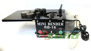 Rb16 Mini Tabletop 1200w Electric Hydraulic Rebar Bender 16mm Rebar Rod 0 180