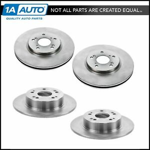 Front Rear Disc Brake Rotor Kit Set For Honda Accord Acura Tsx New