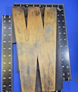 Vintage Wood Printers Type Letter Z 12 In High X 9 3 8 Wide