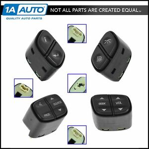 Oem Steering Wheel Mounted Switches Kit Set Of 4 For Buick Chevy Gmc Cadillac