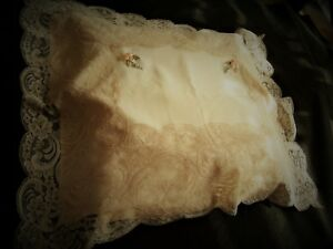 Unused 1940 S Satin Alencon Lace Ribbonwork Pillowslip Marshall Fields Unused