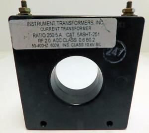 Instrument Transformers Current Transformer 5asht 251 Ratio 250 5a Rf 2 0