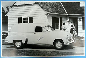 12 By 18 Black White Picture 1951 Chevrolet Sedan Delivery