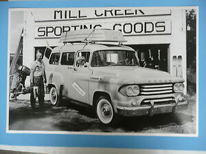 12 By 18 Black White Picture 1958 Dodge 8 Pass 100 Town Station Wagon