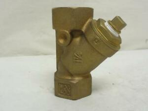164744 Old stock Watts Lf777 1 Wye Strainer 1 Npt Bronze 20 Mesh