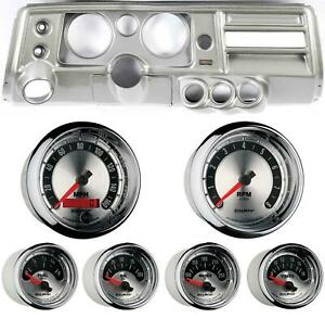 68 Chevelle Silver Dash Carrier W Auto Meter 5 American Muscle Gauges W Astro