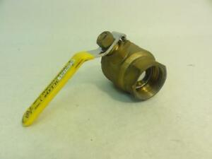 163235 Old stock Apollo 7010727 Bronze 2 pc Ball Valve 1 1 2 Fnpt