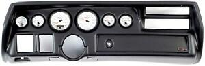 70 72 Chevelle Sweep Black Dash Carrier W Auto Meter Phantom Ii Gauges