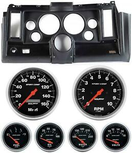 69 Camaro Black Dash Carrier W Auto Meter Sport Comp Electric 5 Gauges