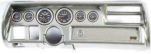 70 72 Chevelle Sweep Silver Dash Carrier W Auto Meter Sport Comp Ii Gauges