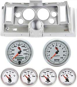 69 Camaro Silver Dash Carrier W Auto Meter C2 5 Gauges
