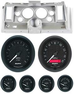 69 Camaro Silver Dash Carrier W Auto Meter Gt 5 Gauges