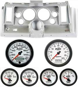 69 Camaro Silver Dash Carrier W Auto Meter Phantom Ii 5 Gauges