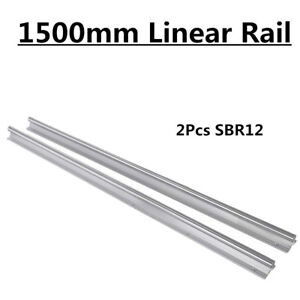 2pcs Sbr12 1500 1500mm Shaft Rod Linear Slide Guide Rail Fully Supported For Cnc