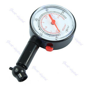 Vehicle Car Auto Motorcycle Bicycle Dial Tire Gauge Meter Pressure Tyre Measure