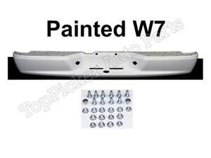 Painted W7 White Rear Bumper Face Bar With Frame Screws For 2005 11 Dodge Dakota