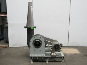 American Blower Type Omh 15hp Size 4 Ser 86 Material Mover Centrifugal Blower