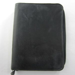 Classic Black Leather Franklin Covey Day Planner Zip Binder 7 1 25 Rings