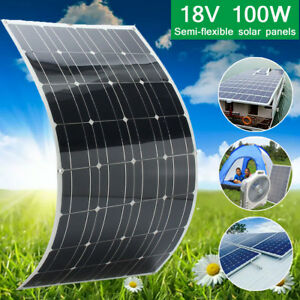 100w Watt 18v Semi Flexible Solar Panel For Motorhome Boats Roof Battery Charger