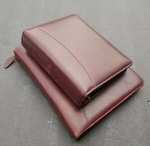 Franklin Covey 6 7 Ring Planners Burgundy 2 Real Leather Organizers