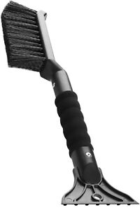 2 In 1 Ice Scraper With Brush For Car Windshield Snow Remove Frost Broom Cleaner