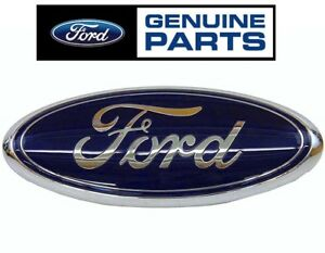 New For Ford Super Duty Front Grille Emblem Nameplate Badge Blue Oval 13 Inch