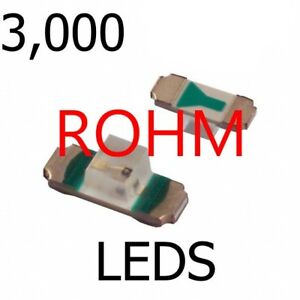 3000 Rohm Smt Red Clear 1305 Led 1 95v 10ma Sml 811utt86 Bright Red