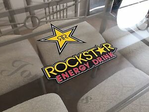 2 Mix Authentic Rockstar Energy Drink Stickers Decal Sign Logo Bmx Motocross