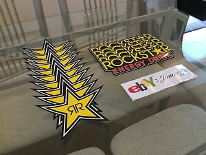 15 Mix Authentic Rockstar Energy Drink Stickers Decal Sign Logos